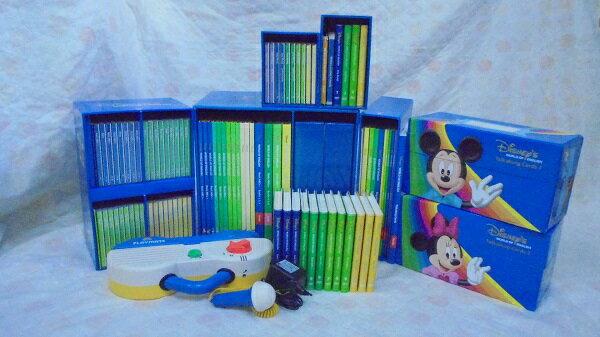 dfg4509   お勧め!お買い得です DWEディズニー英語システムワールドファミリー DVD版旧ミッキーパッケージ  トークアロングは両面タイプ 幼児英語教材