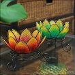ロータスのキャンドルホルダーBtypeインドネシア/バリ雑貨/アジアン雑貨/アロマ/蓮の花/オブジェ