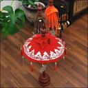 インテリアパユン ハートの飾り付き 高さ60Cm 【バリ島直輸入 バリ雑貨 アジアン雑貨 傘 エスニック お土産 置物 オブジェ】