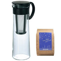送料無料ハリオ 水出しコーヒーポット(8杯専用)、アイス用コーヒー豆付!