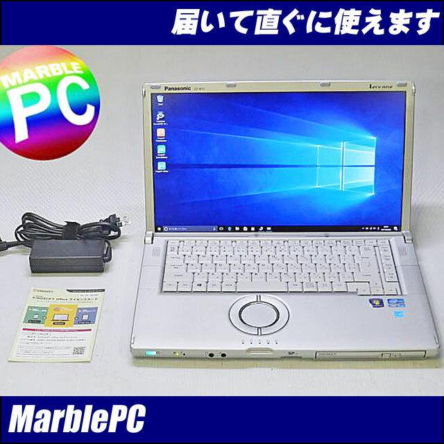 中古パソコン Windows10 高解像度15.6型フルHD!Panasonic Let