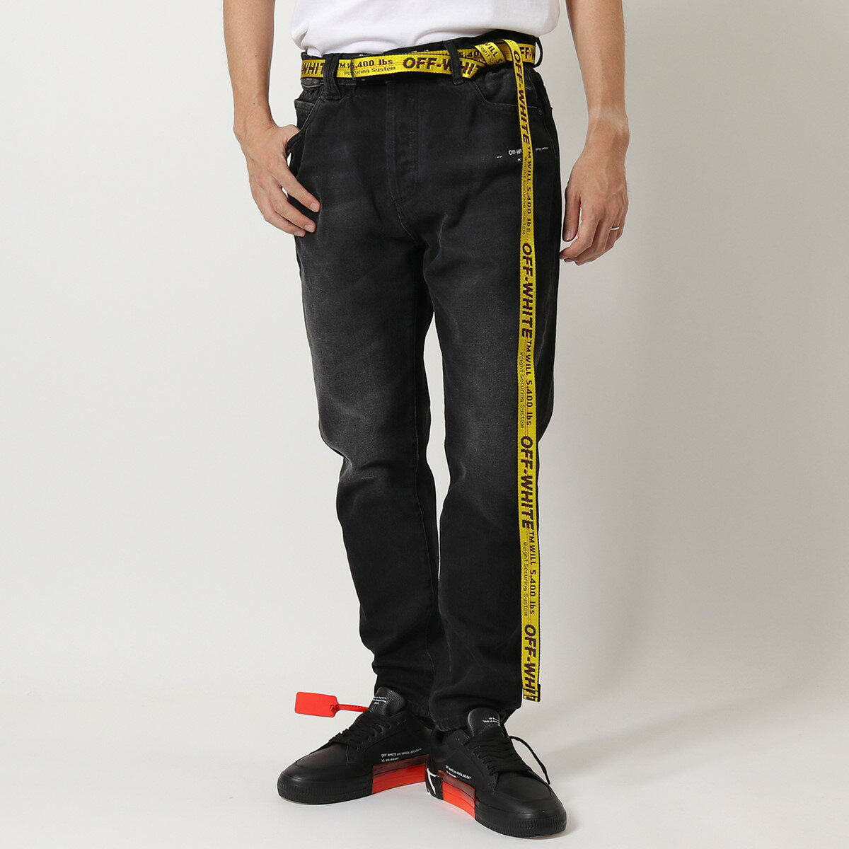 ベルト・サスペンダー, メンズベルト OFF-WHITE VIRGIL ABLOH OMRB021E20FAB0021810 CARRY OV MINI INDUSTRIAL BELT 2.5