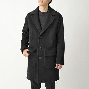 HEVO イーヴォ MARUGGIO ウール ベルテッド チェスターコート フラップポケット シングルコート ロングコート 2517 メンズ