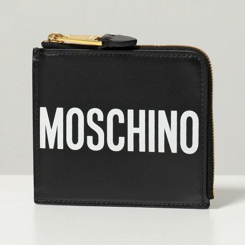 MOSCHINO COUTURE! モスキーノ クチュール A8104 8001 1555 ミニウォレット ミニ財布 カードケース コインケース ブラック ユニセックス フラグメントケース レディース