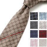 GUCCI グッチ 456522 4B002 カラー6色 イタリア製 シルクネクタイ GGロゴ メンズ