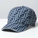【10%OFFクーポン対象!28日0時〜】FENDI フェンディ FXQ768 ACDA ベースボールキャップ FFロゴ 帽子 F1DPB/BLUE+AZURE+WHITE メンズ【cp_hat】