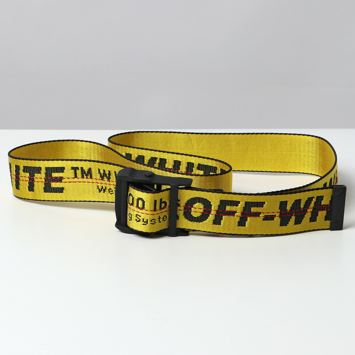 ベルト・サスペンダー, メンズベルト 500OFF28OFF-WHITE VIRGIL ABLOH OMRB021R21FAB001 CLASSIC INDUSTRIAL BELT SH 3.5 1810YELLOW-BLACK