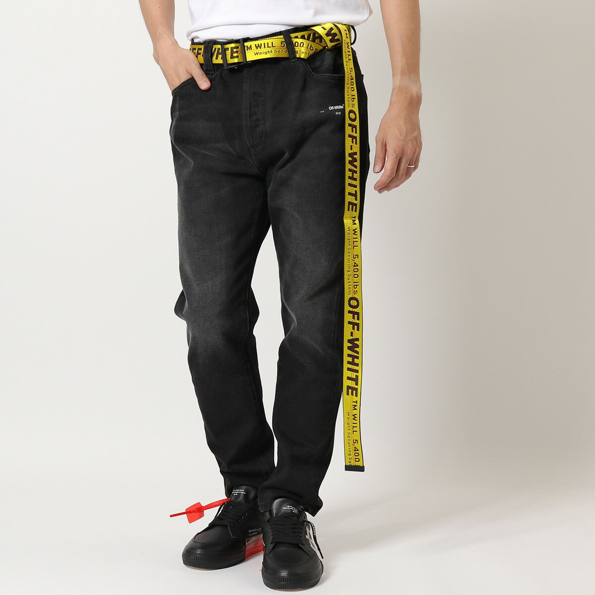 ベルト・サスペンダー, メンズベルト 500OFF28OFF-WHITE VIRGIL ABLOH OMRB012 OWRB009 INDUSTRIAL BELT 3.5 YELLOW