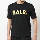 BALR. ボーラー Brand Shirt (T-Shirt) B10001 クルーネック 半袖 Tシャツ カットソー ロゴT BLACK/GOLD メンズ