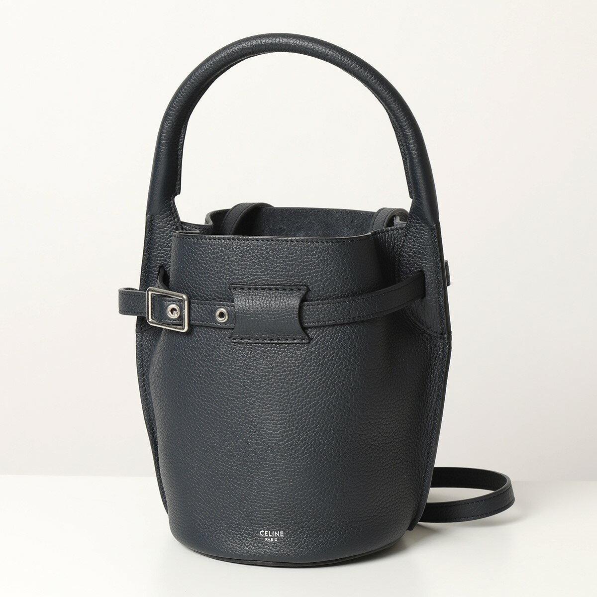 レディースバッグ, トートバッグ CELINE 187243A4U.07OC Big Bag Nano Bucket Navyblue 2021ss
