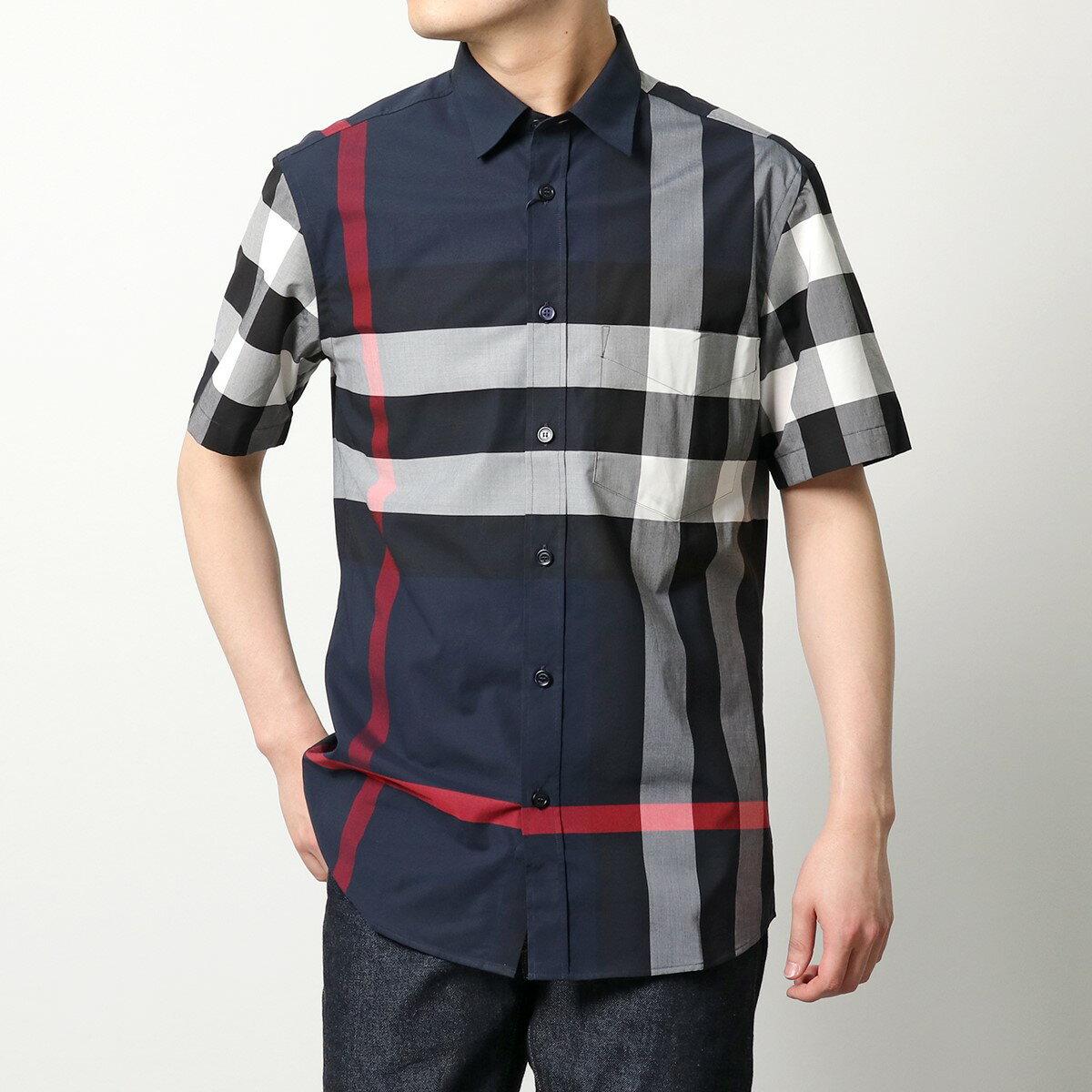 トップス, カジュアルシャツ BURBERRY 8020855 Y NAVY-IPCHECK