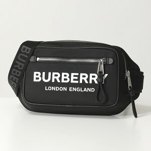 BURBERRY バーバリー 8021089 WEST PN9 ナイロン ボディバッグ ベルトバッグ ウエストポーチ BLACK 鞄 メンズ