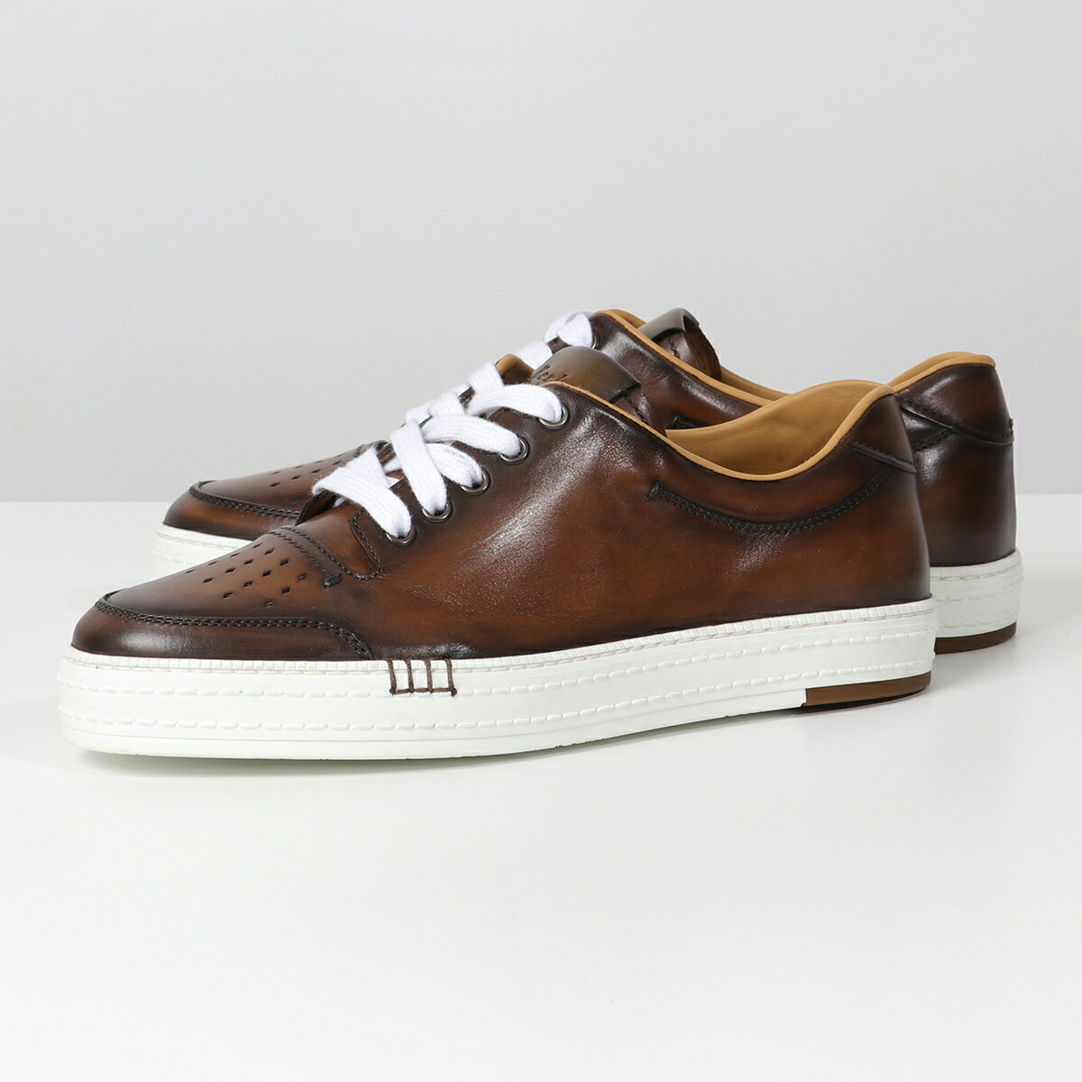 メンズ靴, スニーカー Berluti S4035 016 PALERMO MF4MOGANO
