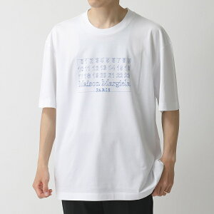 【エントリーでポイント3倍対象!24日23時59まで】MAISON MARGIELA メゾンマルジェラ 10 S30GC0696 S22816 ロゴT クルーネック 半袖 Tシャツ カットソー オーバーサイズ コットン 100 メンズ