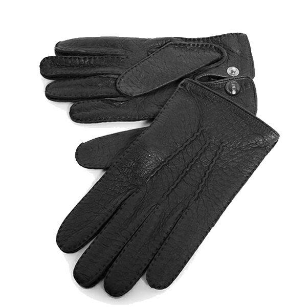 DENTS デンツ メンズ 15-1043 Clifton THE HERITAGE COLLECTION ヘリテージコレクション ペッカリーレザー グローブ 手袋 手ぶくろ アームウェア カラーBlack 56160