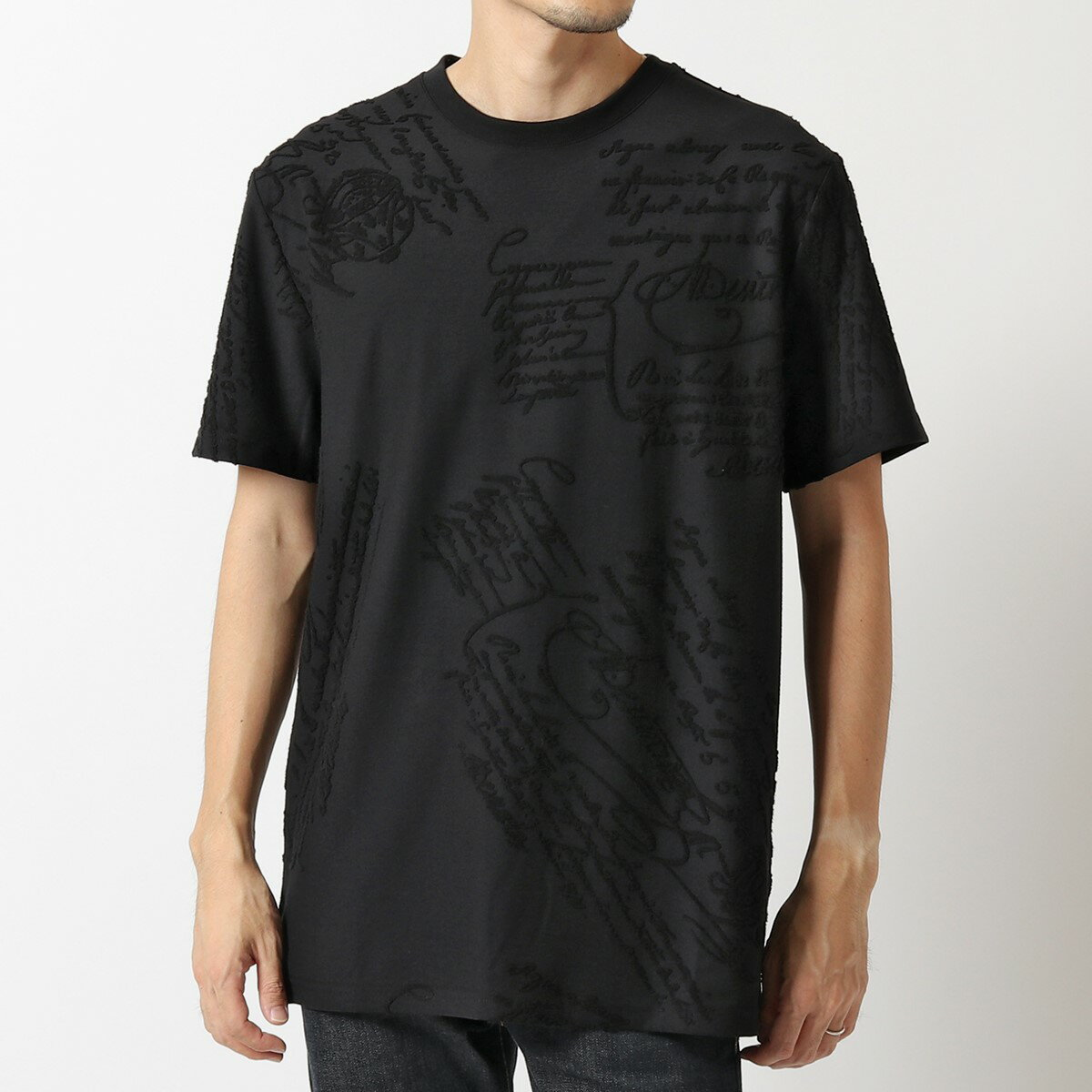 トップス, Tシャツ・カットソー Berluti R18JRS52 002 Terry Scritto T 900Noir