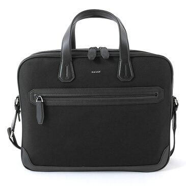 【エントリーでポイント最大12倍!30日限定】BALLY バリー CHANDOS SM/00 シャンドス ナイロン×レザー ブリーフケース ビジネスバッグ 2way ショルダーバッグ カラーBLACK 鞄 メンズ