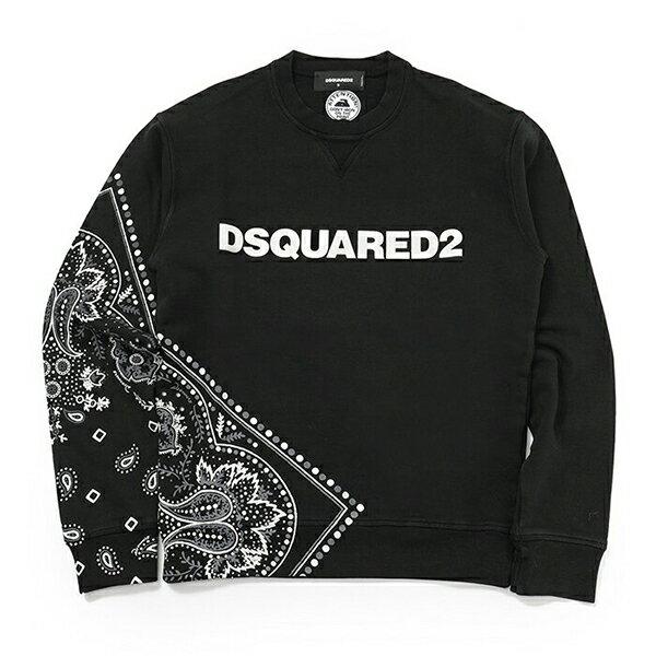 DSQUARED2 ディースクエアード S71 GU0246 S25277 バンダナ柄 ロゴ 長袖スウェットシャツ 900 メンズ