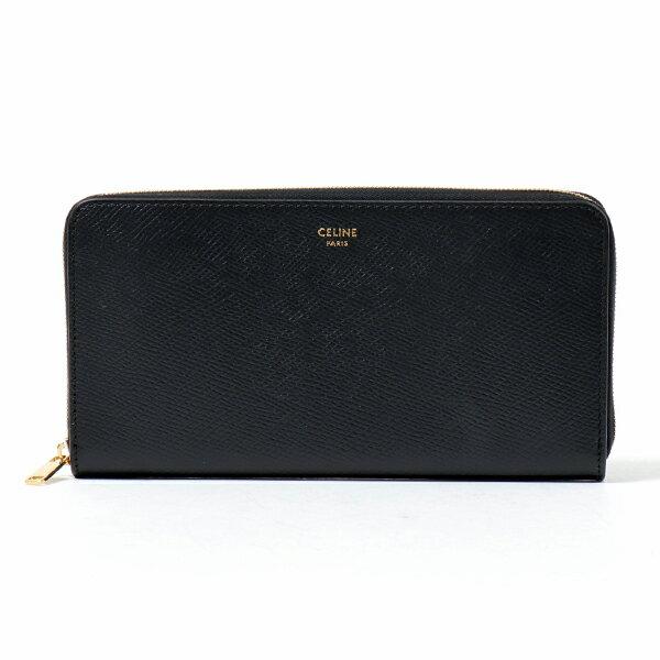 財布・ケース, レディース財布 CELINE 10B553BEL.38NO Large Zipped Wallet Black