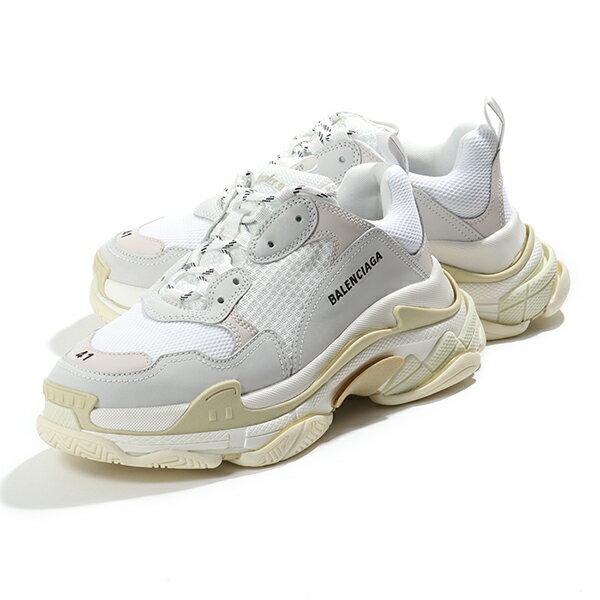 メンズ靴, スニーカー 3,000OFF61BALENCIAGA 534217 W09E1 9000 TRIPLE S WHITE