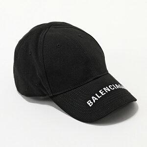 BALENCIAGA バレンシアガ 531588 310B2 1077 ロゴ刺繍 ベースボールキャップ 帽子 ユニセックス レディース