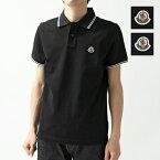 MONCLER モンクレール 8304300 84556 鹿の子 半袖 ポロシャツ ロゴワッペン 999/ブラック メンズ
