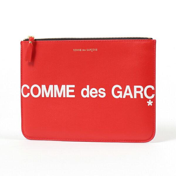 メンズバッグ, アクセサリーポーチ COMME des GARCONS SA5100HL HUGE LOGO RED