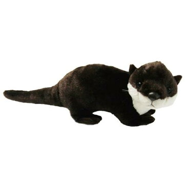 カワウソ ぬいぐるみ Mサイズ ダークブラウン Otter【かわうそ/かわうそぬいぐるみ/カワウソヌイグルミ/ヌイグルミ/動物モチーフ】