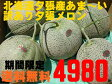 いよいよ始まりました!送料無料 訳あり 北海道夕張産夕張メロン3〜7玉入り たっぷり8kg入り♪♪