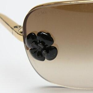 ココマーク サングラス ケース付き CCマーク シャネル ゴールド ブラウン サングラス CHANEL 【SS】 【中古】