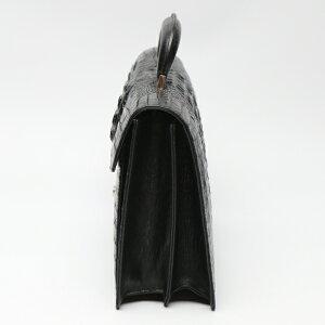 【新品】カイマンクロコワニ3678カイマンクロコダイルブラックセカンドバッグCAIMANCROCODILE【SS】
