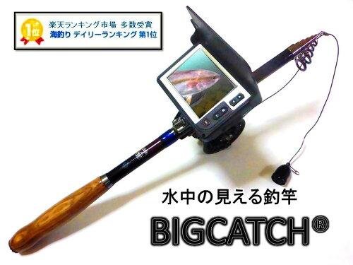 正規品 水中カメラ付き釣り竿 録画機能搭載ビッグキャッチ(釣るとこみるぞう君)LQ-3505DFL ロ...