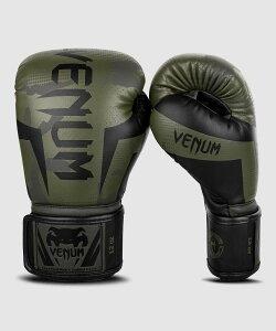VENUM【ヴェヌム】 ボクシンググローブ Elite - エリート(カーキカモ)/ 総合格闘技 ボクシング キックボクシング ブラジリアン柔術 MMA UFC ファイトギア ベヌム ベナム ヴェノム ベノム