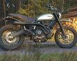 【バイク マフラー】QD ドカティ スクランブラー マックスコーン メガホン ハイマウント フルエキゾーストシステム ブラックバージョン