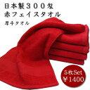 【業務用】日本製 無地 300匁赤タオル(5枚セット) 日本製泉州産 【エステサロン】【美容院】【整骨院】【業者向け】【プロ仕様】…