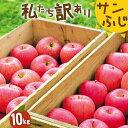 りんご 訳ありサンふじ 10kg 蜜入り 24玉〜46玉 林檎 ご家庭用 送料無料 岩手 完熟
