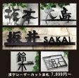 漢字(漢字+アルファベット)レーザーカットデザイン表札