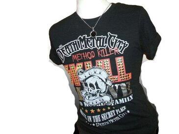 ◆Nigth Rider お兄系半袖Tシャツ黒 ryスカルサイズM新品c032807