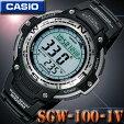 在庫有り!即納可【あす楽対応】CASIOカシオSportsGear腕時計SGW-100-1V【方位】【温度】ツインセンサー【20気圧防水】海外モデル【メール便不可】【新品】