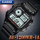 CASIO AE-1200WH-1A WORLD TIME STANDARD DIGITAL カシオ...
