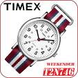 *送料無料サービス*TIMEXWEEKENDERCENTRALPARK【T2N746】FULLSIZEタイメックスウィークエンダーセントラルパークメンズクォーツ腕時計ナイロンベルトレッド×ブルー×ホワイト並行輸入【新品】
