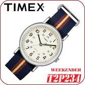在庫有り!即納可『宅配便』で全国*送料無料*【あす楽対応】TIMEX【T2P234】WEEKENDER CENTRAL PARKFULL SIZE 38mm径 タイメックス ウィークエンダー セントラルパーク メンズ クォーツ腕時計 ナイロンベルト ネイビー×レッド×イエロー 並行輸入【新品】