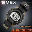 TIMEX【TW4B07800】EXPEDITIONDIGITALタイメックスエクスペディションデジタルメンズユニセックスサイズクォーツ腕時計方位磁石付冒険探検樹脂/クロスベルトブラウン×ブラック並行輸入【新品】