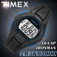 TIMEX【TW5K93900】IRONMANEssential10FULLSIZE10-LAPタイメックスアイアンマン10ラップメンズデジタルクォーツメンズユニセックス腕時計マラソンランニングウォッチブラック×ブルー並行輸入【新品】