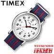 TIMEX【T2N747】WEEKENDERCENTRALPARKFULLSIZE38mm径タイメックスウィークエンダーセントラルパークメンズ腕時計ナイロンベルトブルー×レッド並行輸入【新品】