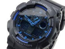 【あす楽対応】カシオCASIOGショックG-SHOCKアナデジメンズ腕時計GA-100-1A2ブラック×ブルー【国内GA-100-1A2JFと同型】海外モデル【新品】