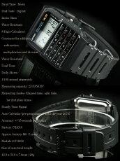 メール便配送180円OK♪在庫有り!即納可「宅配便」で【あす楽対応】CASIOCA-53W-1カシオCALCULATORカリキュレーター電卓付腕時計海外モデル【新品】