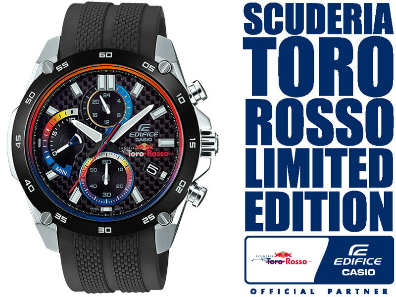f3576bd488 腕時計 限定 CASIO 樹脂バンド Scuderia Toro Rosso Limited Edition EFR-557TRP-1AJR  シルバー×ブラック 【送料無料】 EDIFICE カシオ エディフィス