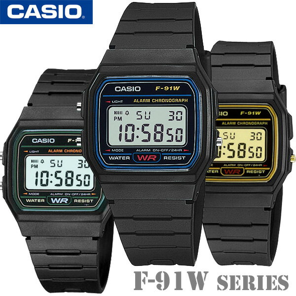 腕時計, 男女兼用腕時計 CASIO F-91W Series Standard Digital F-91W-1F-91W-3F-91WG-9 F-91W-1JF