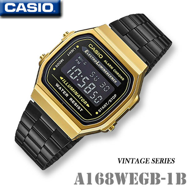CASIO vintage watch CASIO A168WEGB-1B -VINTAGE S...